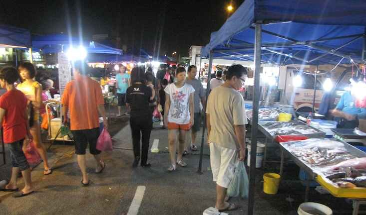 photo of the night market