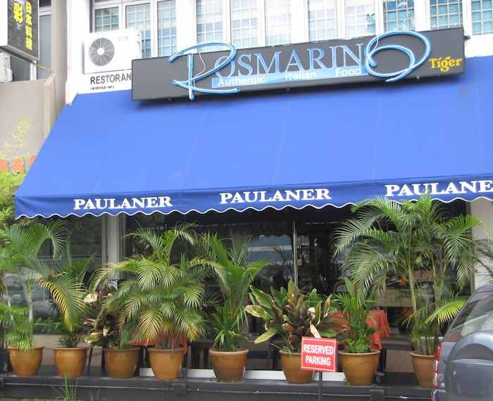photo of front of Rosmarino Italian Restaurant in Johore Bahru