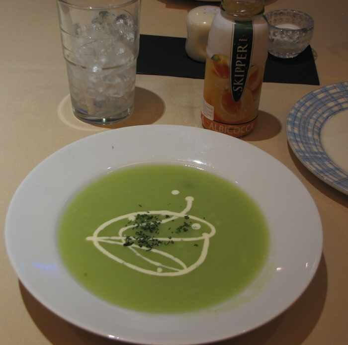 photo of pea soup at Rosmarino's
