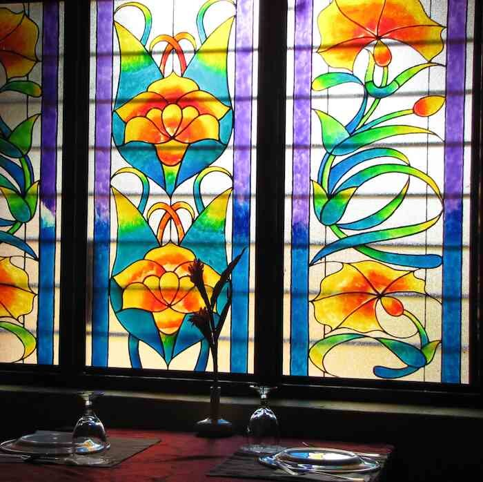 photo of stained glass windows