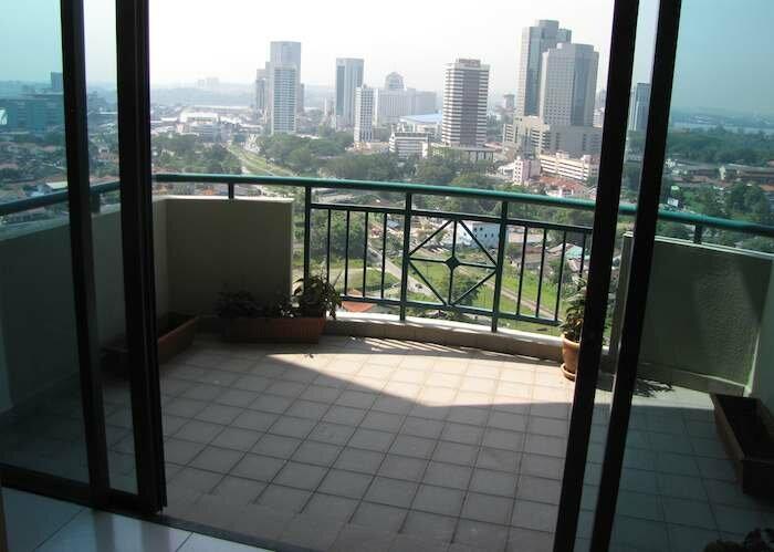 Wadihana condo balcony, with view of Johor Bahru CBD