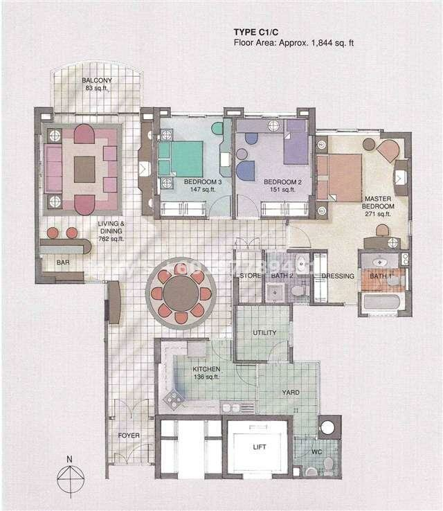 Wadihana condo floorplans