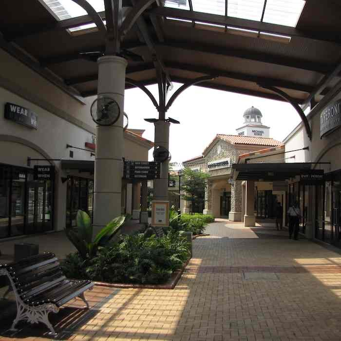 Covered open area at Johor Premium Outlets