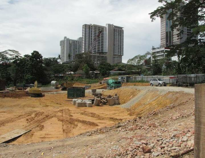 photo of digging the Setia Sky foundation