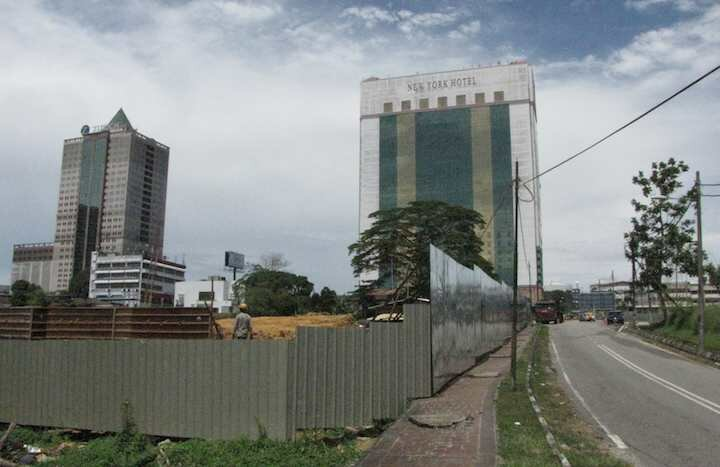 photo of the Setia Sky site with New York Hotel in background