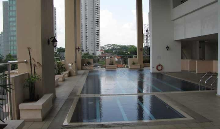 photo of the pool area