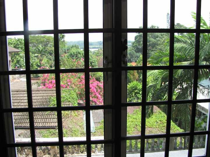 Stulang Villa Condo, view looking to Singapore