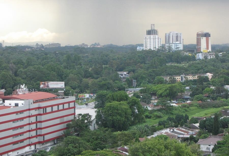 View of Downtown Johor Bahru looking away from Singapore